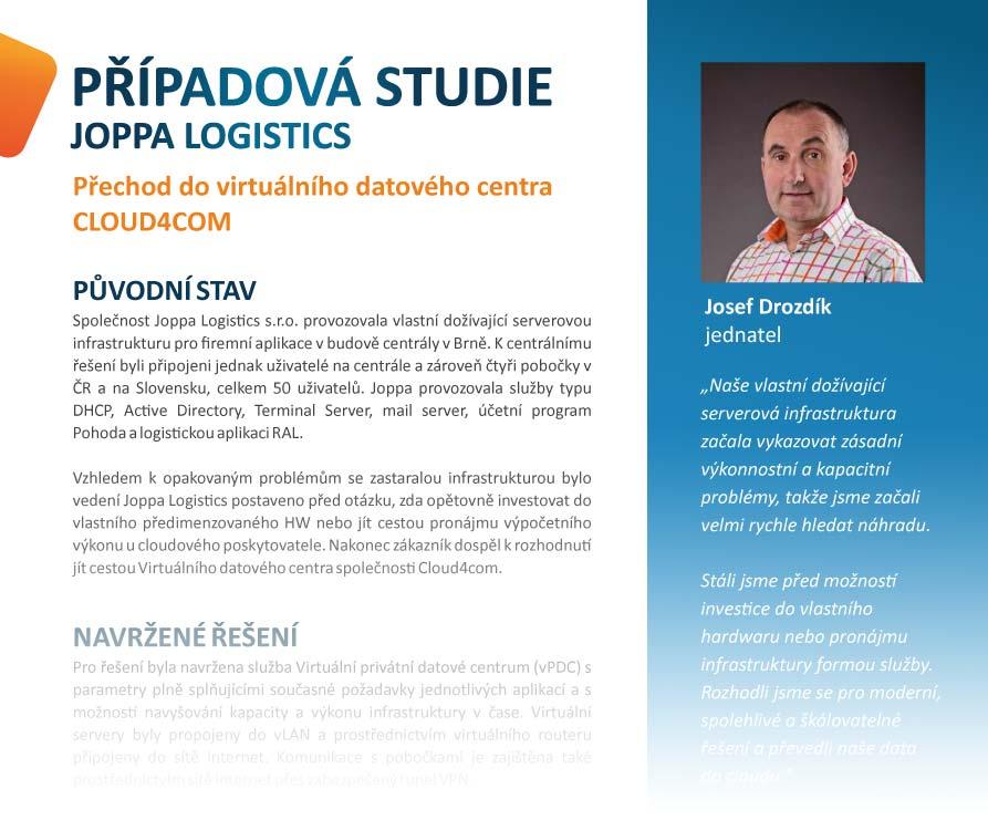 Případová studio JOPPA LOGISTICS